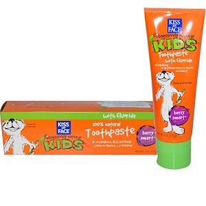 Kiss My Face, Obsessively Natural Kids,含氟牙膏