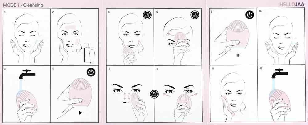 洗臉機使用方法