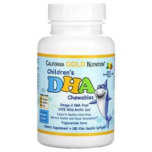 【California Gold Nutrition】兒童DHA咀嚼片草莓檸檬口味